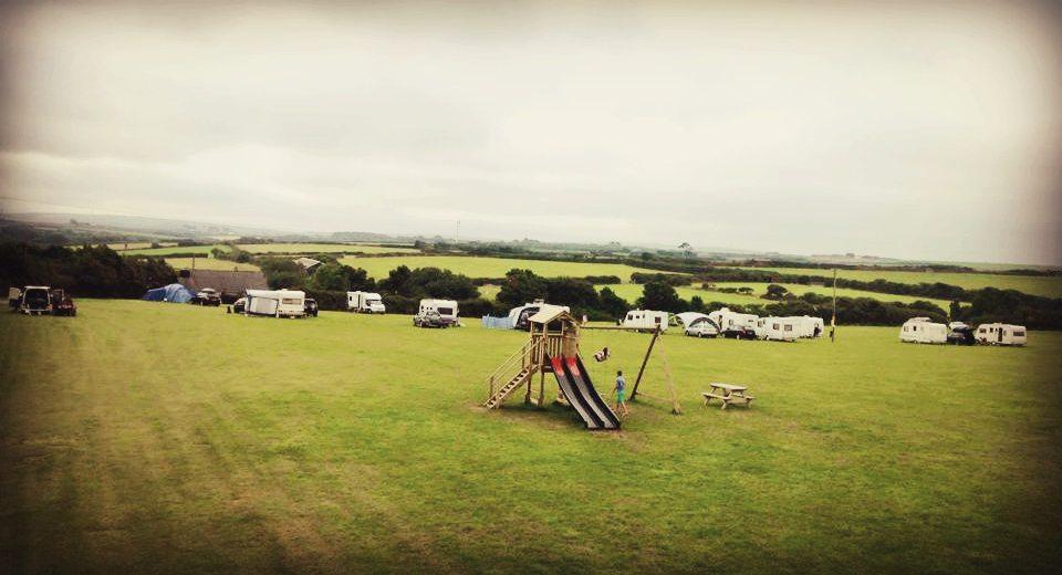 Tregavone campsite play area